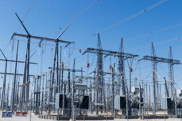 Dangerous High Voltage Electrical Power Substation XIII