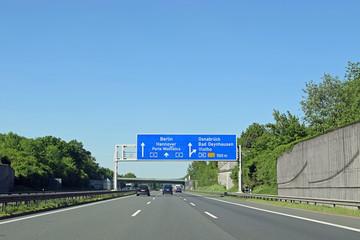 Autobahn bei Bad Oeynhausen