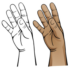 Open Hand Vector Illustration
