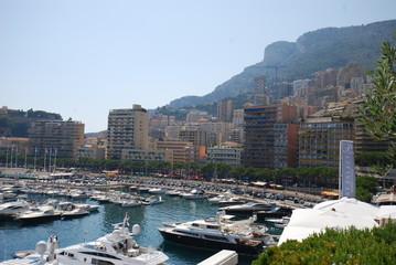 Monte-Carlo; Monaco Bay; town; marina; coast; sea