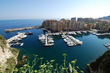 Port de Fontvieille; sea; marina; coast; promontory