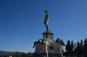 Piazzale Michelangelo; statue; sky; monument; landmark