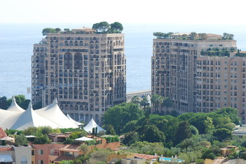 Port de Fontvieille; city; condominium; urban area; residential area