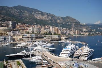 Monte-Carlo; Port de Fontvieille; marina; town; dock; passenger ship