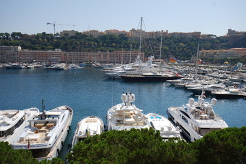 Monaco Bay; marina; dock; harbor; vehicle