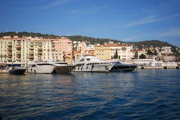 Port of Nice; Promenade des Anglais; marina; waterway; water transportation; harbor