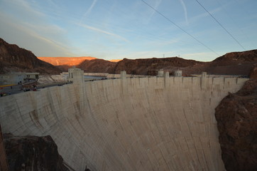 Hoover Dam; landform; wall; canyon; badlands