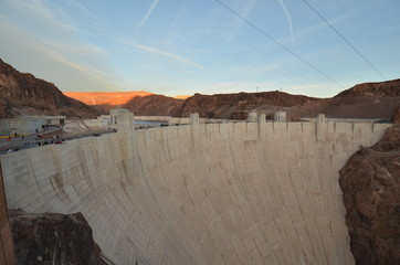 Hoover Dam; landform; geographical feature; natural environment; canyon