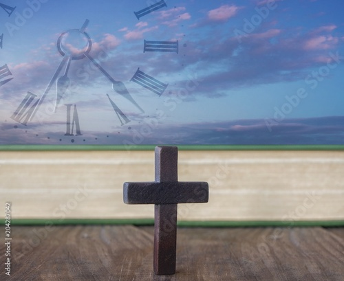 Cross On Table Religion Background Paradise Heaven The Cross