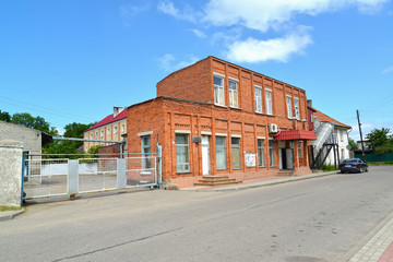 POLESSK, RUSSIA. The brick building of shop on Sovetskaya Street