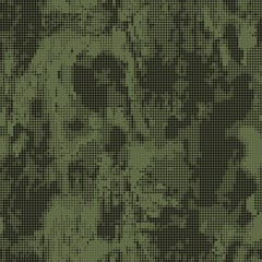 Abstract military or hunting camouflage background. Seamless pattern. Green dots shapes. Camo.