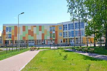 Building of high comprehensive school. Polessk, Kaliningrad region