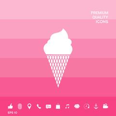 Ice cream symbol icon