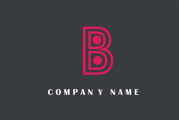 B Letter Logo Design. Line Typography Vector Illustration.