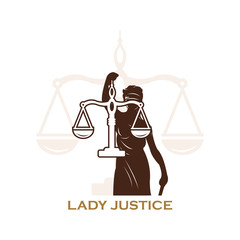 balance scale and lady justice