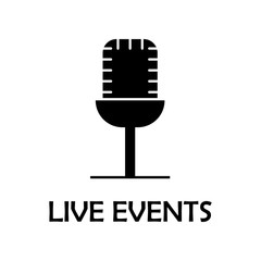 live events icon. Element of marketing for mobile concept and web apps. Detailed live events icon can be used for web and mobile. Premium iconmarketing