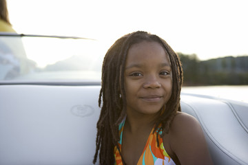 Portrait of girl on a boat