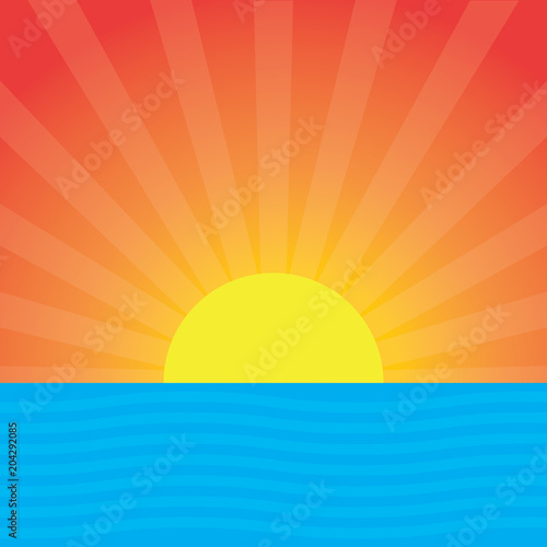 Images of a cartoon sunset