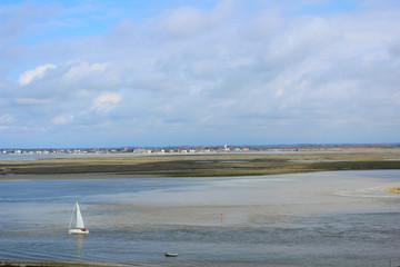 vue sur la baie de somme depuis le village de saint valery sur somme