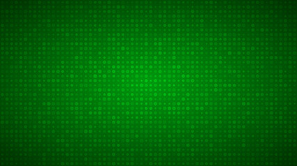 Abstract background of small circles or pixels of different sizes in green colors. Fotoväggar