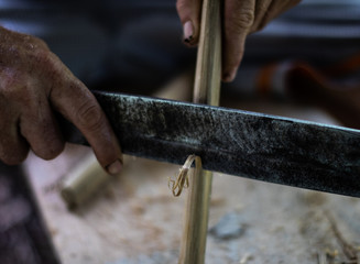 bamboo cut knife]