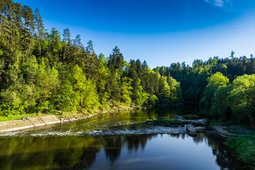 Luznice river, Czech Republic.
