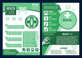 Vector poster for medical research health center