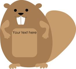 joyful beaver for the logo beaver logo