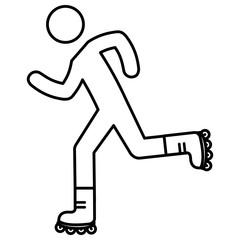 figure human in skates silhouette avatar vector illustration design