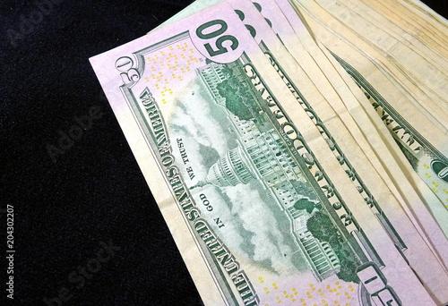 Fifty dollars cash  Bandl of 50 dollars bills