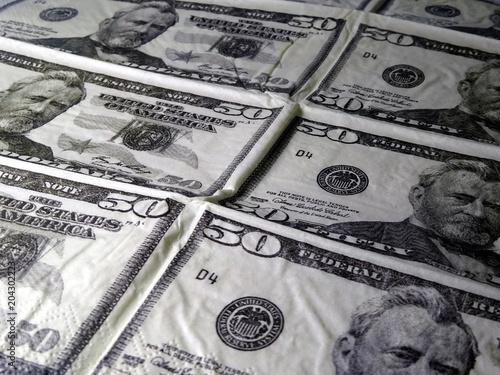 Napkin For Kids 50 Dollars Banknotes
