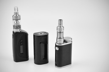 E - cigarette for vaping , technical devices.The liquid in the bottle