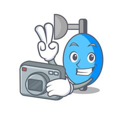 Photographer ambu bag mascot cartoon