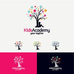Kids Learn Academy Logo Designs Template