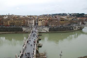 Via della Conciliazione; water; river; sky; bridge