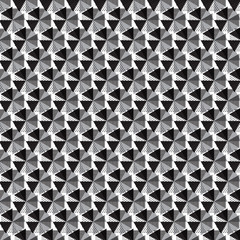 black silver triangle with dot and line inside on polygon shape pattern background