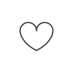 Heart outline icon. linear style sign for mobile concept and web design. Love simple line vector icon. Symbol, logo illustration. Pixel perfect vector graphics