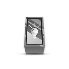 Light bulb, new idea concept web button