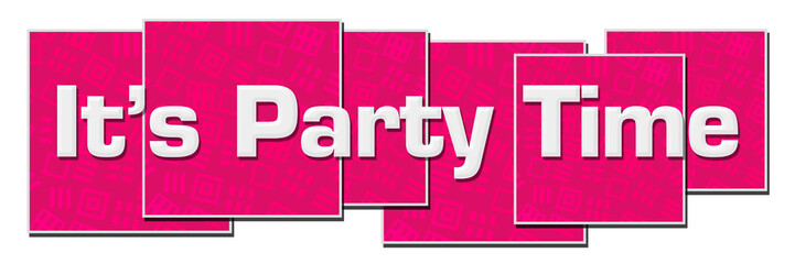 Its Party Time Pink Texture Blocks