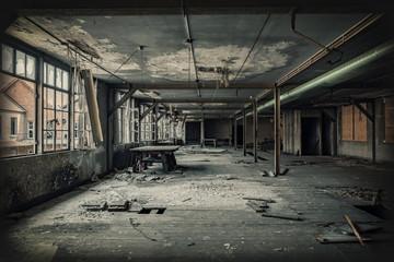 Factory hall ruin
