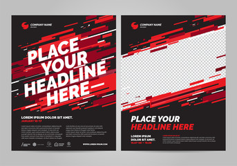 Poster design sports invitation template. Can be adapt to Brochure, Annual Report, Magazine, Poster. Fototapete