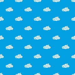 Sleep pattern vector seamless blue