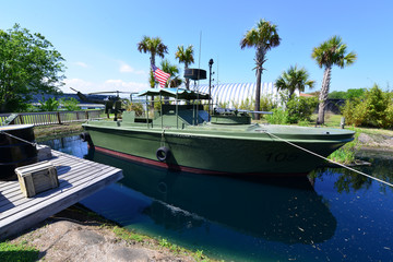 A gunboat used on the rivers of Vietnam by the Americans.