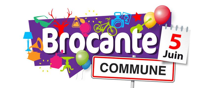 Brocante (avec date et nom commune personnalisables)