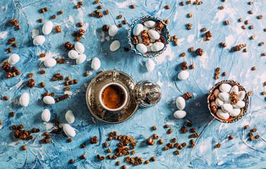 Top View Turkish Coffee