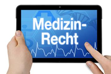 Tablet mit Diagnose Medizinrecht Behandlungsfehler