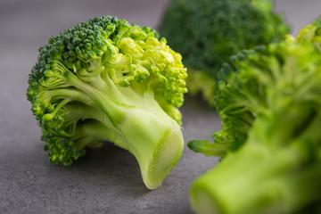 close up of fresh raw green broccoli