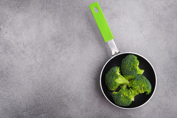 broccoli in a frying pan