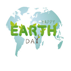 Earth day concept design on white background vector illustration