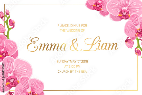 Wedding Marriage Event Invitation Card Template Horizontal